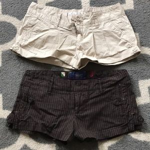 2 pairs of shorts Hollister American Eagle